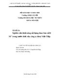 Luận văn: Nghiên cứu khả năng sử dụng than bùn xử lí Ni2+ trong nước thải của công ty khoá Việt Tiệp