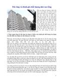 Thi công và đánh giá chất lượng nhà cao tầng