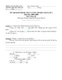 Đề thi học sinh giỏi lớp 1 môn Tiếng Việt trường Tiểu học Thọ Lộc