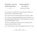 Đề thi Lịch Sử học kì 1 lớp 12 trường THPT Mỹ Lộc