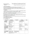 Đề thi Lịch Sử học kì 1 lớp 12 trường THPT Nông Cống 2