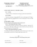 Đề thi Lịch Sử học kì 1 lớp 12 thành phố Cần Thơ
