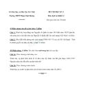 Đề thi Lịch Sử học kì 1 lớp 12 trường THPT Phạm Thái Bường