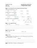 Đề kiểm tra 1 tiết môn Toán học lớp 2