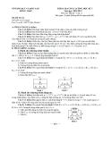 Kiểm tra chất lượng học kỳ 1 vật lý 11 Trường THPT Châu Thành năm 2012-2013