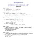 30 đề thi học sinh giỏi toán lớp 7 có đáp án
