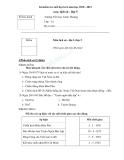 Bài kiểm tra cuối học kì 2 năm học 2010 - 2011 môn  lịch sử  lớp 5 Trường Tiểu học Xuân Thượng