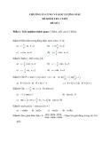 Đề kiểm tra 1 tiết Toán 10 - Chương VI: cung và góc lượng giác
