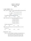Đề kiểm tra 1 tiết Toán 10 - Chương V Thống Kê