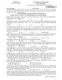 Đề thi thử tốt nghiệp môn hóa năm 2010-2012 mã đề 101