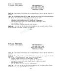 Đề thi học kì 1 ngữ văn lớp 11 TT GDTX H.Chơn Thành 2009-2010