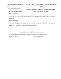 Đề thi chất lượng học kì 1 năm 2012 - 2013 môn Ngữ văn lớp 11 Trường THPT chuyên – Chương trình Cơ bản