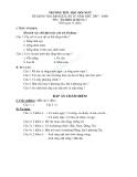 Đề kiểm tra định kì lần 4 năm 2007 -2008 môn tự nhiên xã hội 2 trường tiểu học Đồi Ngô