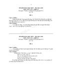 Đề kiểm tra 1 tiết Văn 12 về bản Tuyên ngôn độc lập của Chủ tịch Hồ Chí Minh - Kèm hướng dẫn giải