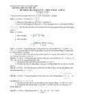 Đề thi học kì 2 môn toán lớp 12 trường THPT Số 1 Phú Mỹ
