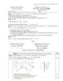 Đề thi học kì 2 môn toán lớp 12 (ban KHTN)  năm học 2008-2009 trường THPT Đa Phúc - có lời giải