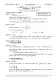Tổng hợp đề thi học kì 1 môn Toán lớp 12 năm 2011-2012 - Trường THPT Trần Đình Cư