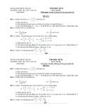 Đề thi HK2 môn Toán lớp 12 - THPT BC Chu Văn An - có lời giải