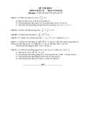 Đề thi học kì 2 môn Toán lớp 12 - Ban cơ bản - Đề số 1