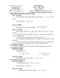 Đề thi học kì 2 môn toán lớp 12 - Đề số 4