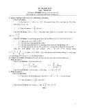 Đề thi học kì 2 môn toán lớp 12 - Đề số 3