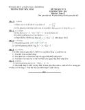 Tổng hợp đề thi học kì 1 môn Toán lớp 12