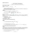 Đề kiểm tra học kì 1 môn toán lớp 12 (nâng cao) có lời giải