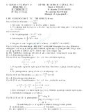 Đề thi học kì 2 môn toán lớp 12 năm học 2010-2011 trường THPT Bình Phú - có lời giải