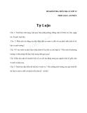 Đề kiểm tra 1 tiết Địa 12 đề tự luận