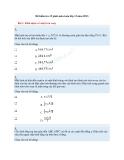 Đề kiểm tra 15 phút Toán 12 hình học chương 2