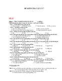 Đề kiểm tra Lý 7 - Kèm Đ.án
