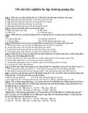 110 câu trắc nghiệm ôn tập chương quang học