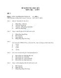 Kiểm tra học kì 1 môn Địa lý 9 đề 3