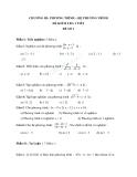 Đề kiểm tra 1 tiết Toán 10 - Hệ phương trình - Hàm số bậc nhất, bậc hai