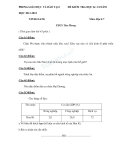 Trường  THCS Tân Phong đề kiểm tra học kì 2 môn địa lí năm 2012-2013