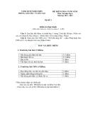 Đề kiểm tra cuối năm mã đề 1 âm nhạc lớp 6 huyện Điện Biên 2012 - 2013