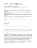 Đề thi chứng chỉ quốc tế ngành công nghệ thông tin lĩnh vực CCNA – OSI Model Questions