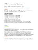 Chứng chỉ quốc tế ngành công nghệ thông tin CCNA – Access List Questions  -  Đề 2