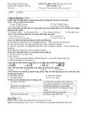 Đề thi học kì 2 tạo các hiệu ứng động tin học lớp 9 THCS Nguyễn Văn Trỗi 2012 - 2013