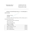 5 Đề kiểm tra HK2 môn Mỹ thuật lớp 6