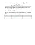 Đề kiểm tra 1 tiết môn Địa lý lớp 8 phần Địa lý Châu Á