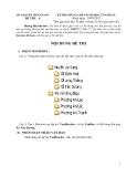 Đề thi chứng chỉ A-B tin học ứng dụng- Đề thi A Tỉnh Tiền Giang