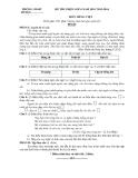 Đề thi chọn lớp 6 năm học 2013 - 2014 môn Tiếng Việt