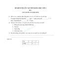 Đề kiểm tra ôn tập Khoa học 4