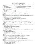 306 câu hỏi trắc nghiệm Sinh học lớp 9