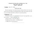 Đề khảo sát đầu năm môn tiếng việt lớp 3 phần chính tả và tập làm văn