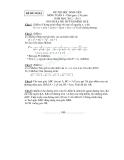 Bộ đề thi học sinh giỏi lớp 9 môn Toán