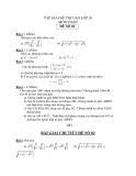 Tập giải đề thi vào lớp 10 môn toán - Đề số 2