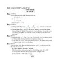 Tập giải đề thi vào lớp 10 môn toán - Đề số 9