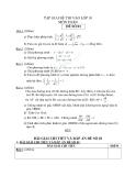 Tập giải đề thi vào lớp 10 môn toán - Đề số 1
